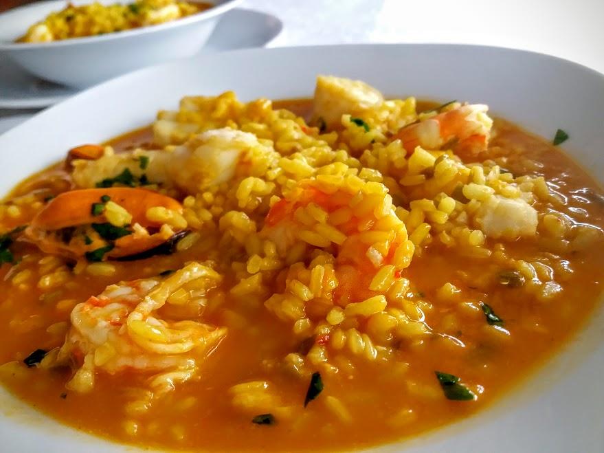 arroz meloso con merluza