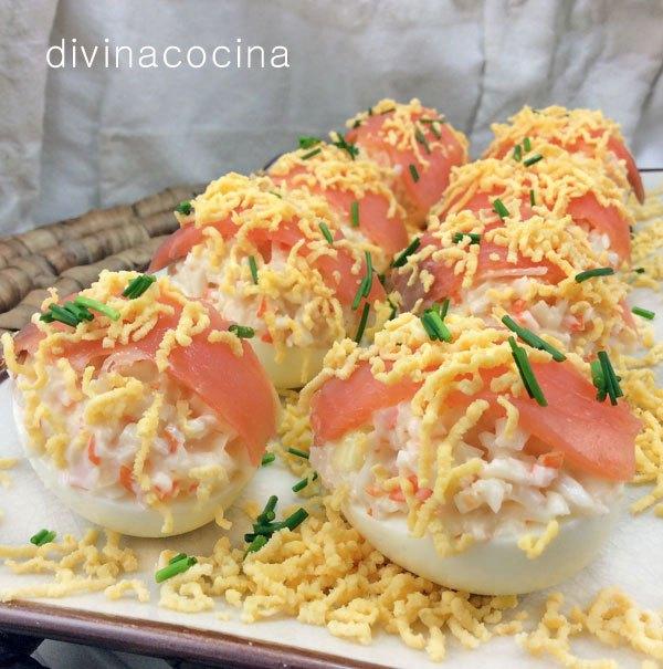 huevos rellenos de salmon divina cocina cocina con pedro y yolanda