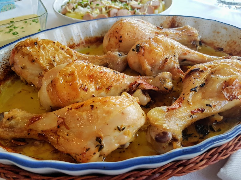 muslitos de pollo asados con aliño