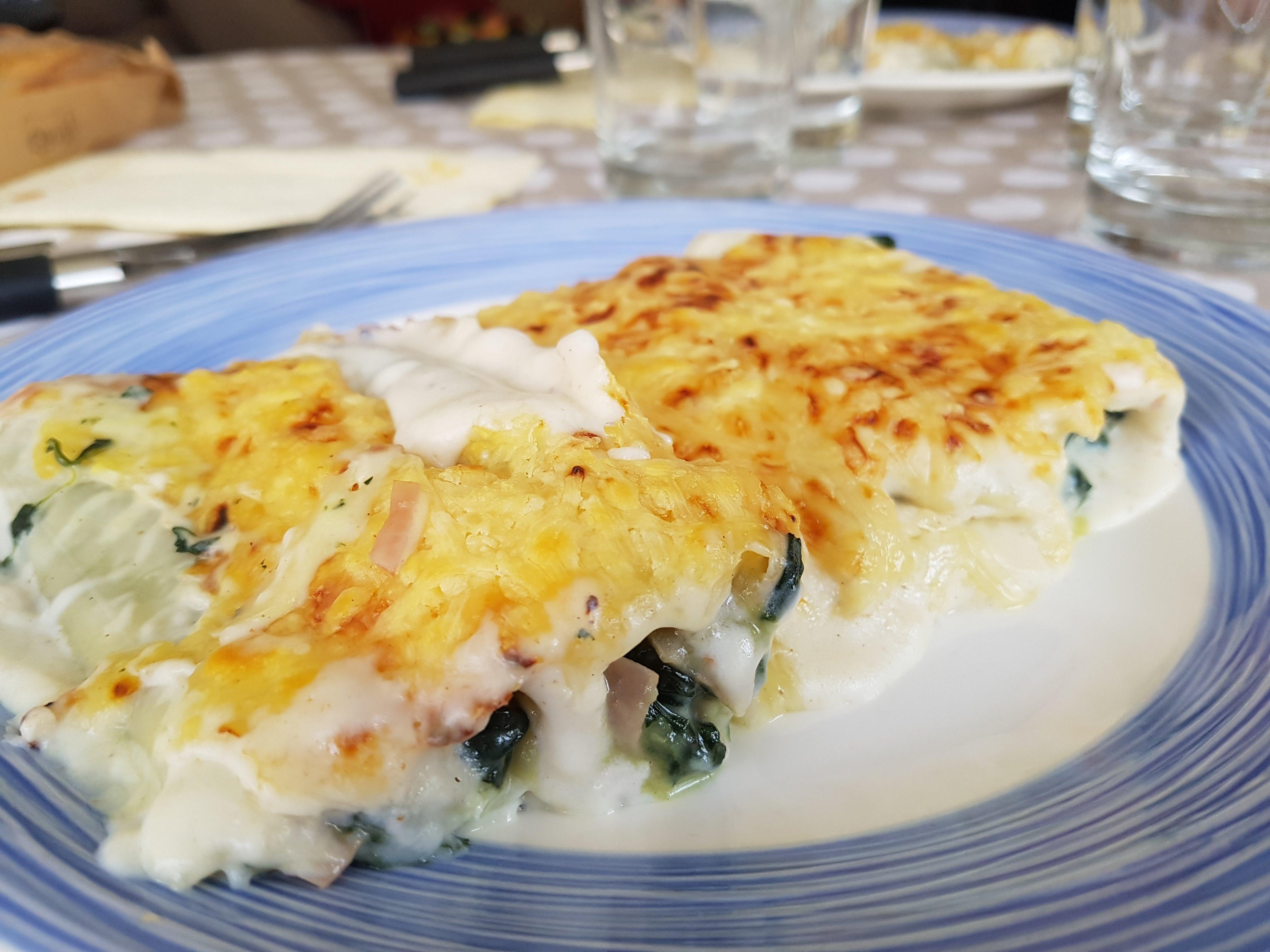 canelones espinacas queso cabra