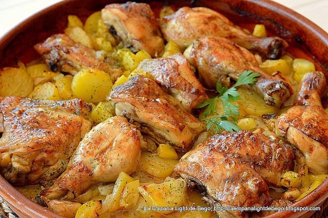pollo asado al ajillo